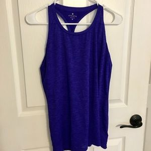 Athleta high neck Chi striped tank powerful blue